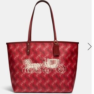 Reversible City Tote With Horse And Carria…